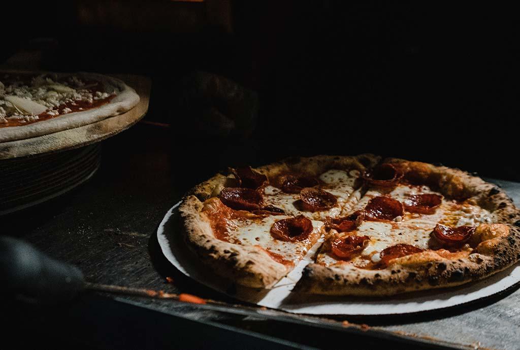 Lækker pizza